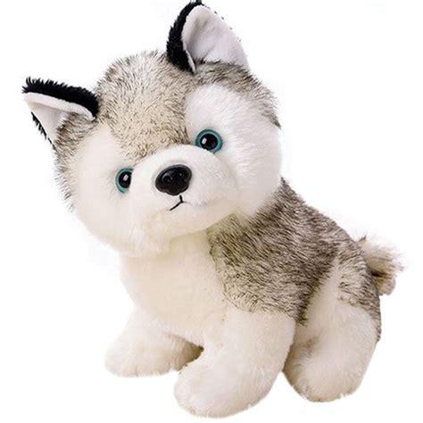 dolls animals realistic siberian husky puppy soft plush stuffed