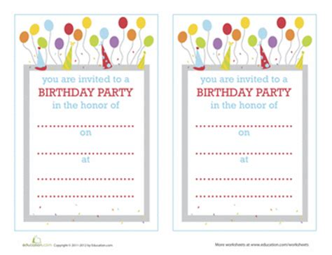 free printable design your own birthday invitations make your own birthday invitations education