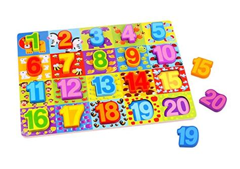 Chunky Puzzle Numbers Puzzle Chunky Angka 1 20 scale number puzzle wooden 1 20 chunky puzzle educational for toddlers the