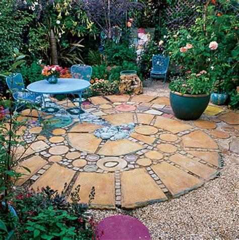 Patio Mosaic Ideas Pathways Pavers On Pebble Mosaic Pea Gravel