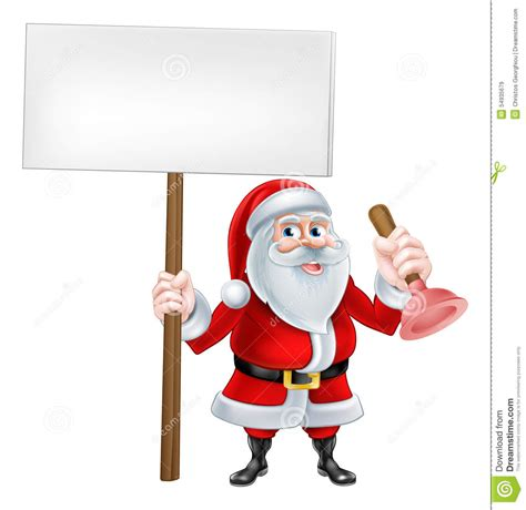 Santa Plumbing by Santa Plumber Stock Vector Image Of Claus