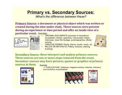 best 25 primary sources ideas on secondary 17 best images about primary and secondary sources on