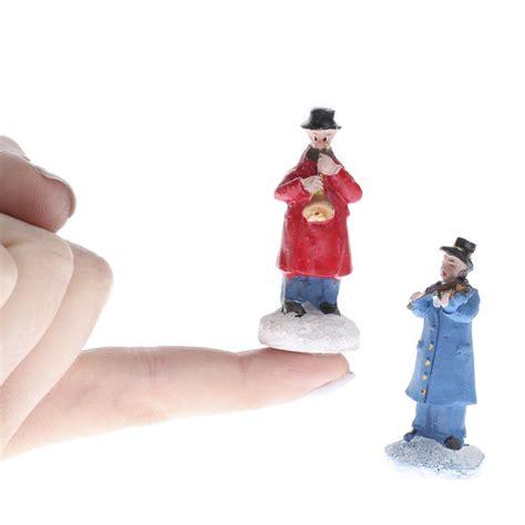 miniature winter figurines miniature musician figurines