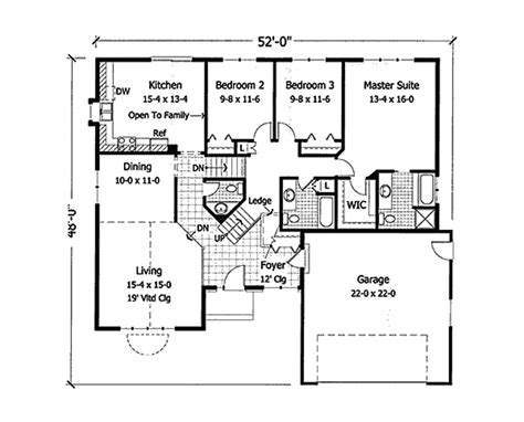houseplans and more modern ranch home floor plans house design ideas