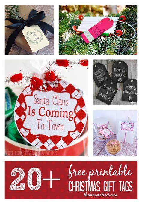 25 free printable christmas gift tags the benson street