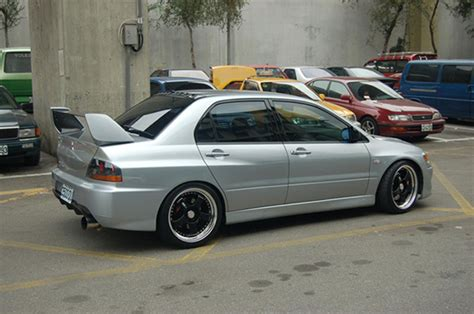 silver mitsubishi lancer black rims rims for silver evo ix evolutionm mitsubishi
