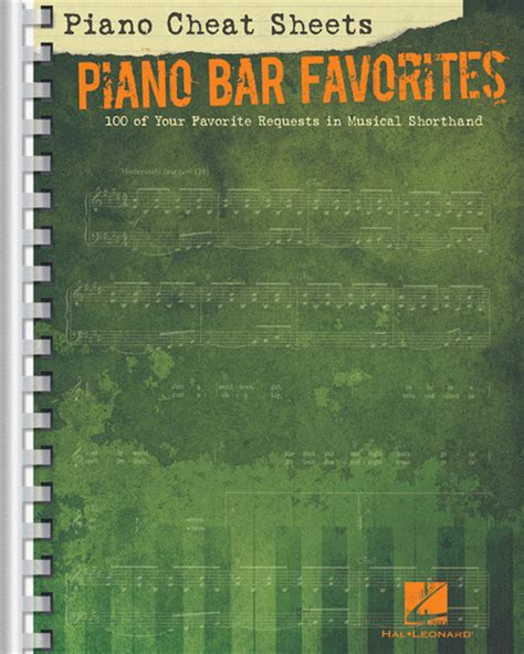 top 100 piano bar songs piano cheat sheets piano bar favorites sheet music by
