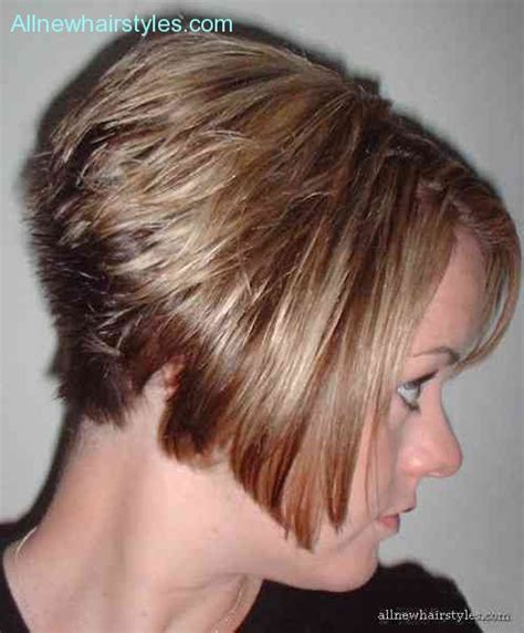 hairstyle wedge at back bangs at side wedge haircut back view photos allnewhairstyles com
