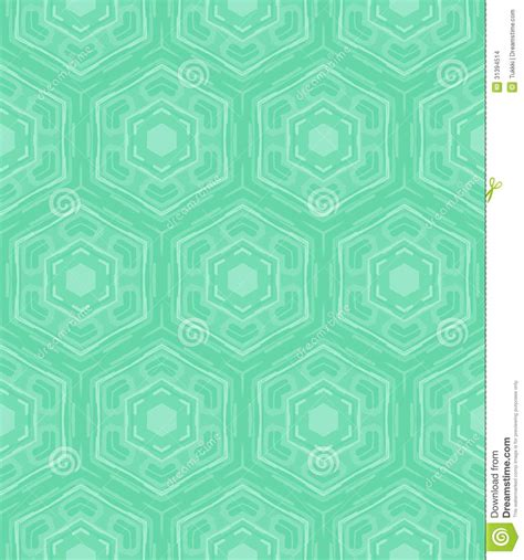 Fifties Home Decor by Mint Green Geometric Pattern In 60s Style Stock Vector