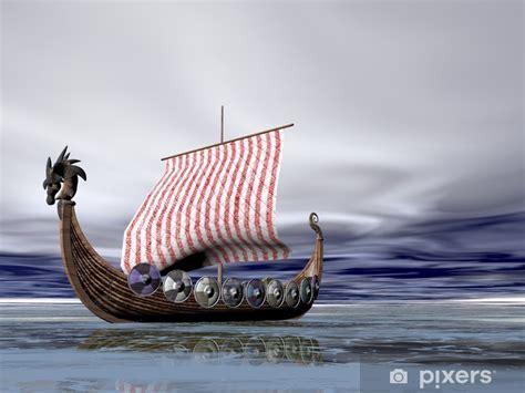 viking ship  sea wall mural pixers    change