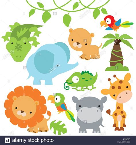 Make Jungle Animals lioness elephant parrot palm tree animal jungle