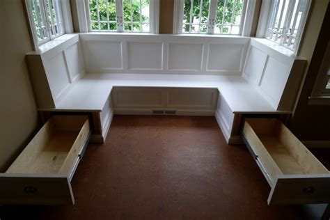 Banquettes With Storage by A Custom Made Built In Kitchen Banquette With Bench