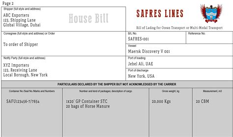 house bills can anyone issue a house bill of lading