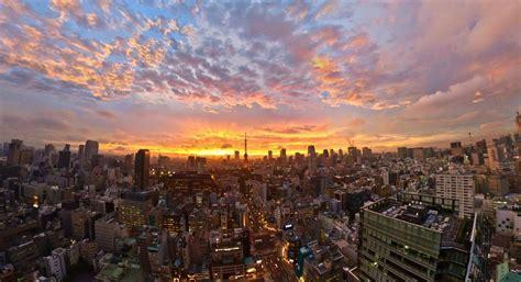 Sunset japan clouds landscapes tokyo cityscapes golden
