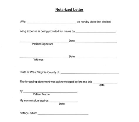 notarized document template 25 notarized letter templates sle letters in word