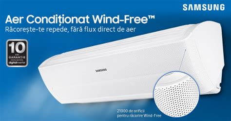 Ac Samsung Care samsung ar12mspxbwkneu cu tehnologia inovativa wind free