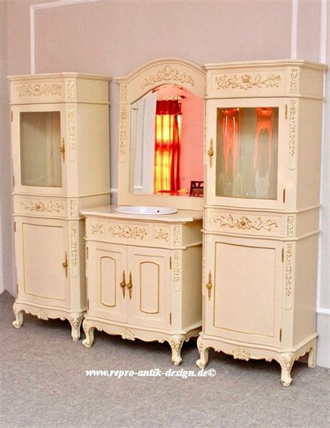 badezimmermöbel antik barock badezimmer princess waschtisch in creme wei 223 mit