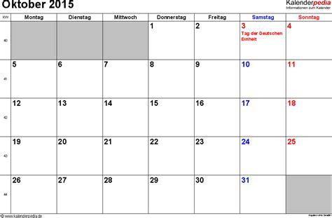 Kalender 2015 Oktober Kalender Oktober 2015 Als Pdf Vorlagen