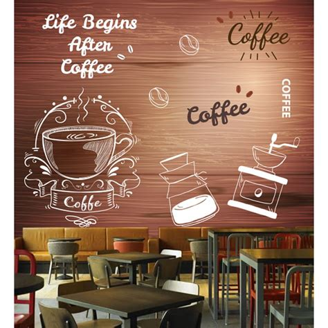 wallpaper  wallpaper custom dinding coffee shop shopee indonesia