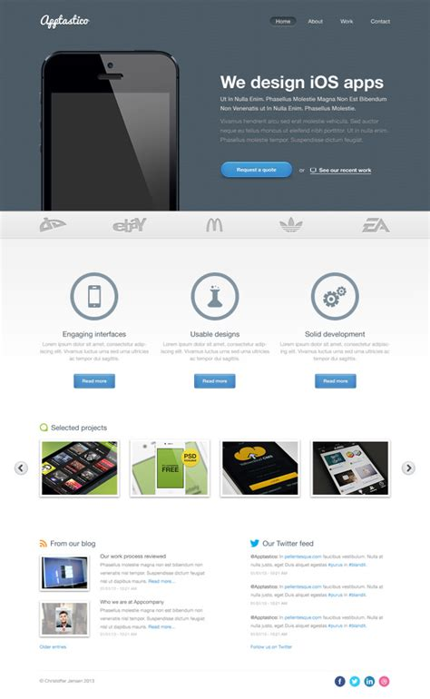 website template design free download psd 20 free high quality psd website templates hongkiat
