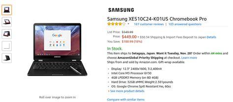 Samsung Xe510c24 K01us Chromebook Pro かぶ 米 Black Fridayを控えたこの週末にsamsung Chromebook Proとplusが 109 99オフ C101paが 30オフに