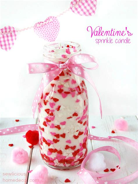 diy valentine sprinkles candle gift ideas