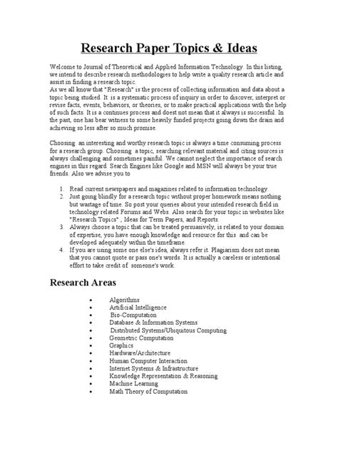 scientific topics for a research paper excellent ideas for creating science research paper topic