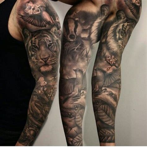 tattoo with animal sleeve tattoos animals more tattoos ink pinterest