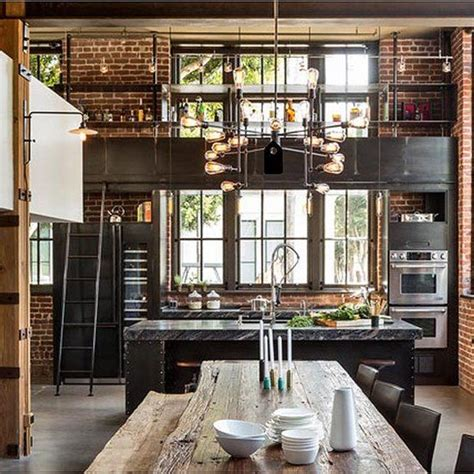 top 25 best industrial chic kitchen ideas on