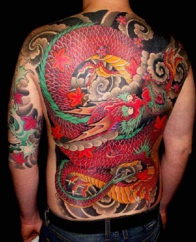 dragon back piece tattoo designs japanese photo and design picture