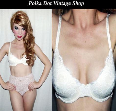 Vs Bra No Label 2 vtg 60s white lace maidenform push up bra pin up brassiere bra