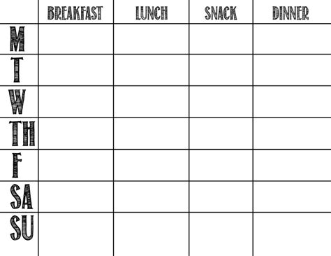whole30 meal plan template template design
