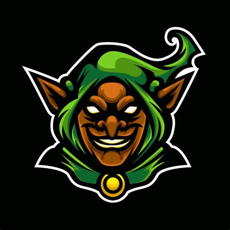 green goblin sport logo vector premium