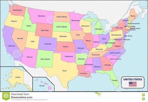 political map of usa political map of usa with names stock vector image 72783568