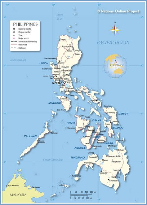 map of phillipines political map of philippines nations project