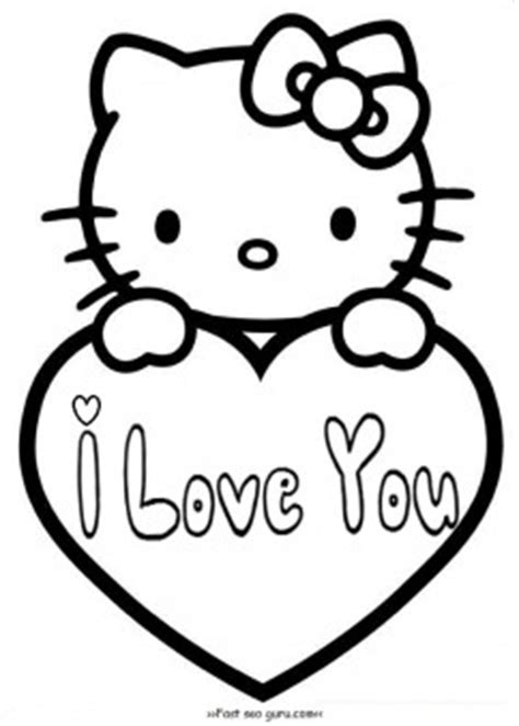 hello kitty coloring pages valentines day hello kitty valentines day coloring pages for kids