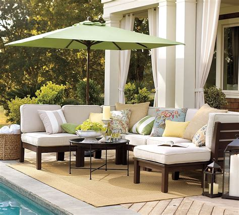 pottery barn furniture outdoor garden furniture comfy rustic yet refined style