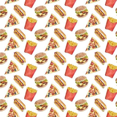 Food Pattern Background Tumblr | pizza burguer and french fries pattern patterns