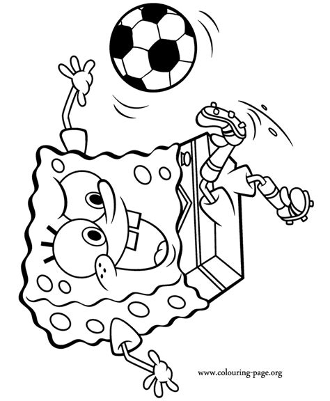 spongebob nfl coloring pages look spongebob is having fun while playing soccer would