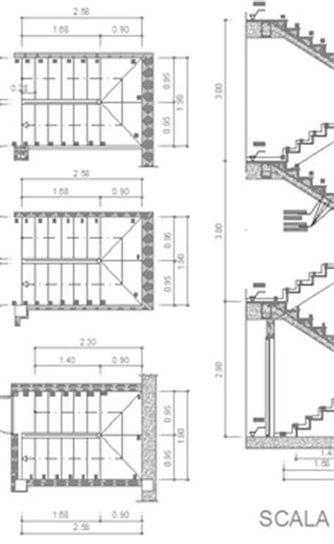 disegni di scale interne scale in cemento armato 2d