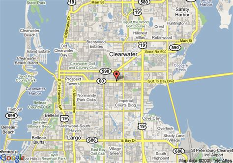 clearwater florida on map map of ramada limited and suites clearwater clearwater