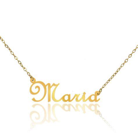 cadenas con nombre maria collar con nombre de oro amarillo 9 quilates mar 237 a ocarat