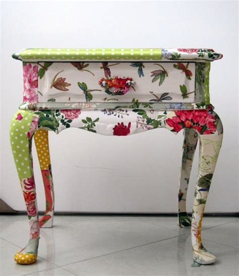 Decoupage Furniture With Fabric - the best decorating diy crafts