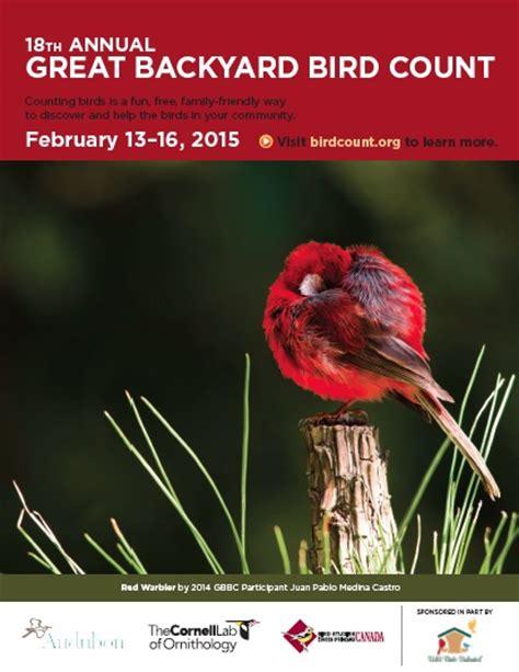 Cornell Great Backyard Bird Count by The Great Backyard Bird Count February 13 16 2015