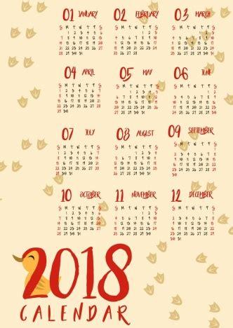 graphic design calendar wallpaper 2018 calendar background duck footprints icons design