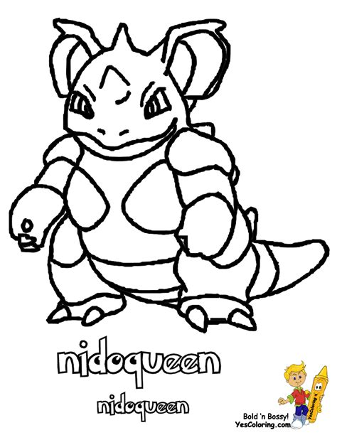 pokemon coloring pages nidoking non stop pokemon pictures nidoqueen arcanine boys