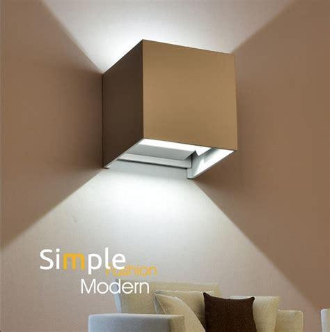 Square Sconce Simples Moderna Arandela Criativo Pra 231 A Led Wall Light