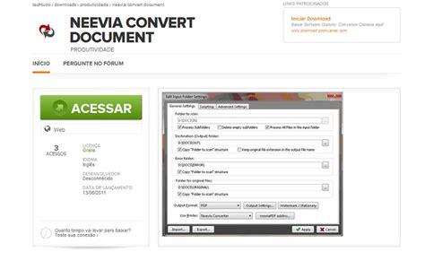 convert pdf to word neevia baixaki converter pdf para word em portugues