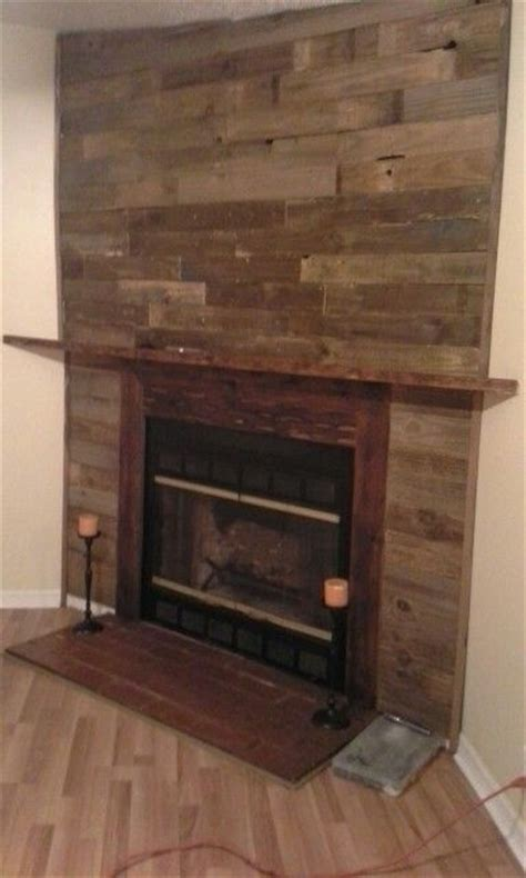 Pallet Wall Fireplace pallet wall fireplace for the home