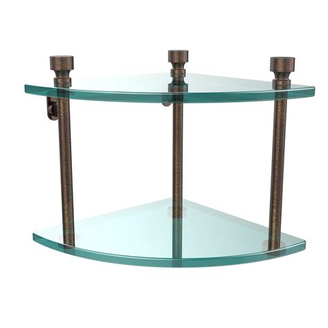 Glass Shelf Cl by Home Decorators Collection 8 In X 36 In Clear Glacier